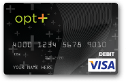 opt+ Direct Deposit Prepaid Debit Card