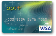opt+ Monthly Prepaid Debit Card