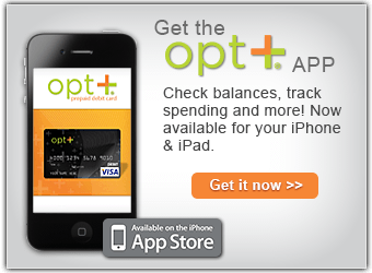 opt+ App for your iPhone & iPad - Check balances - track spending & more!