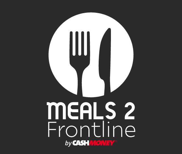 meals 2 frontline by cash money logo