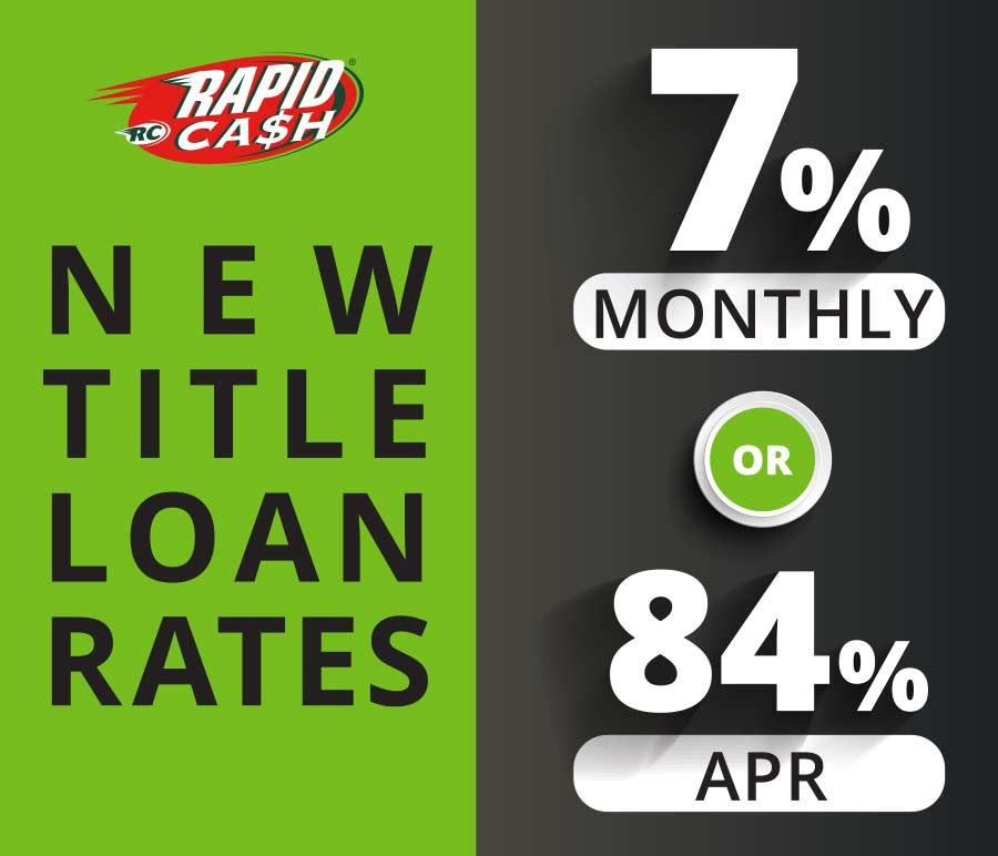 New Title Loan Rates!