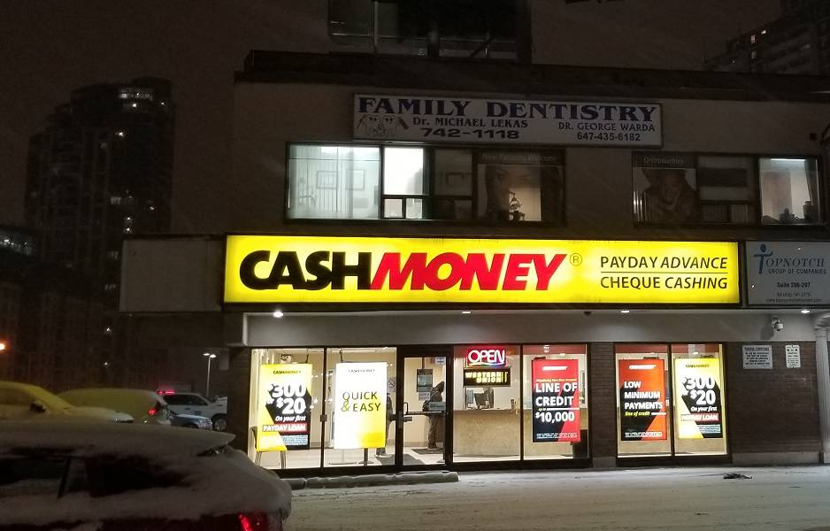 Cash Money store at 2363 Finch Ave W