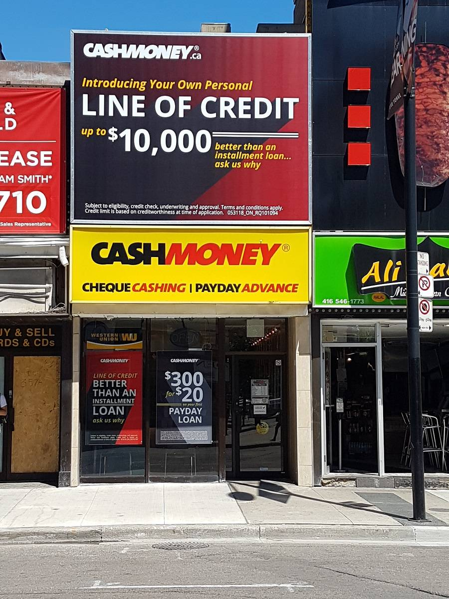 Cash Money store in Toronto Ontario