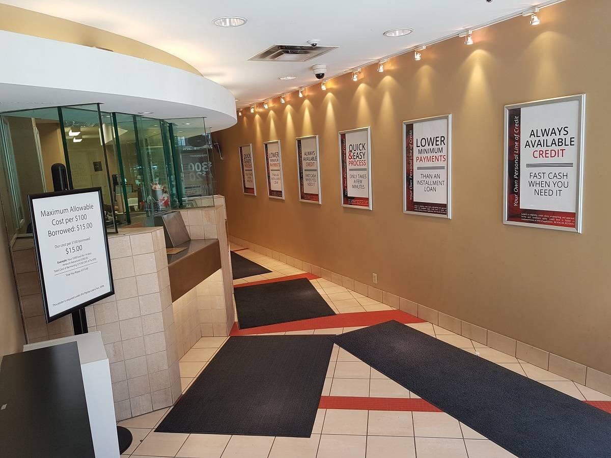 Inside Cash Money store in Toronto Ontario
