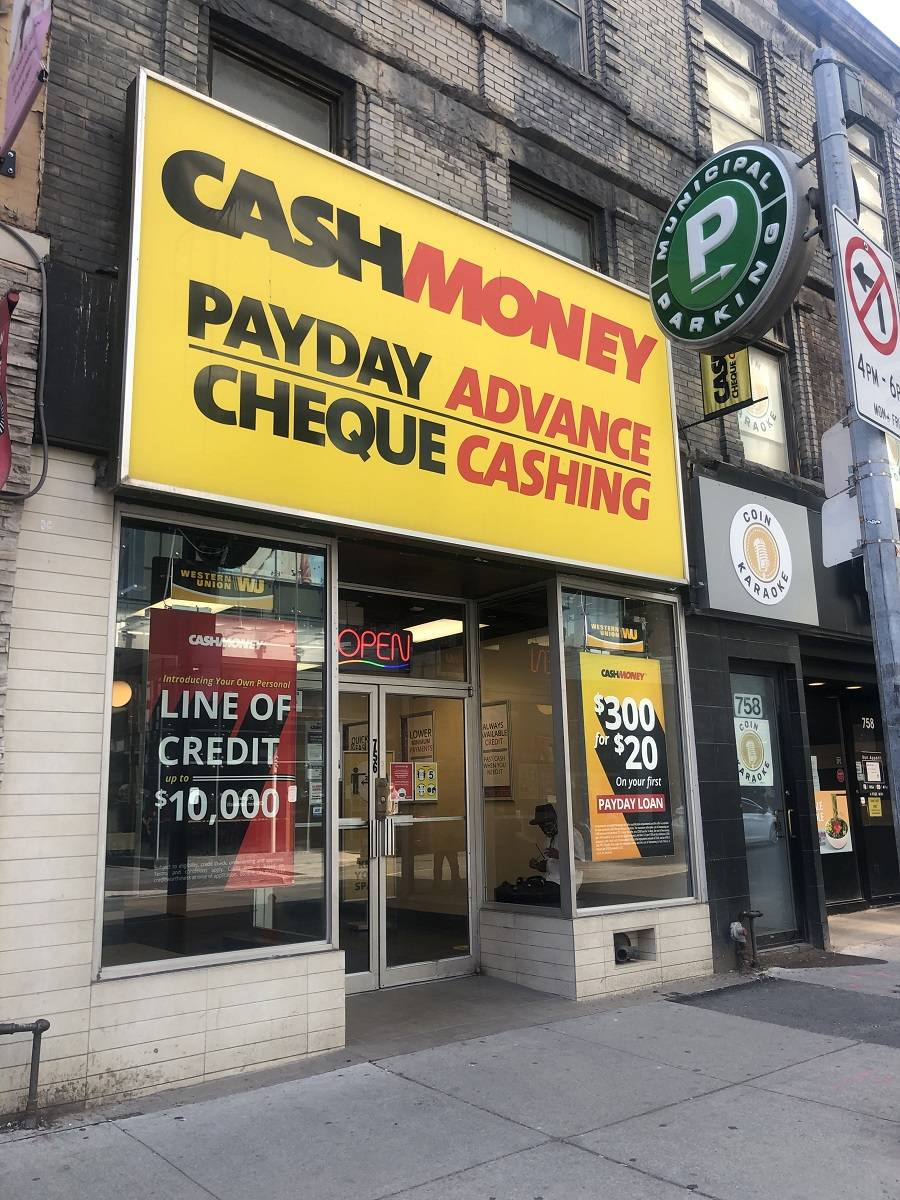 Cash Money store at 756 Yonge St