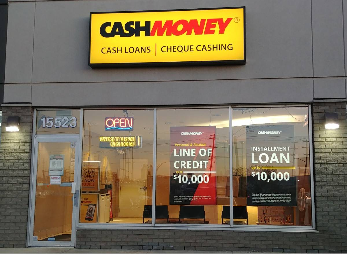 Cash Money store at 15525 118th Ave NW