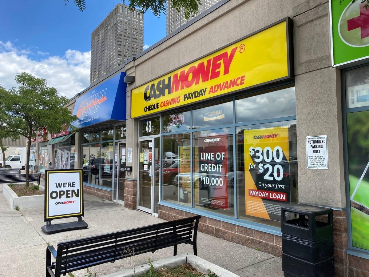 Cash Money store at 62 Overlea Blvd Toronto, ON M4H 1C4
