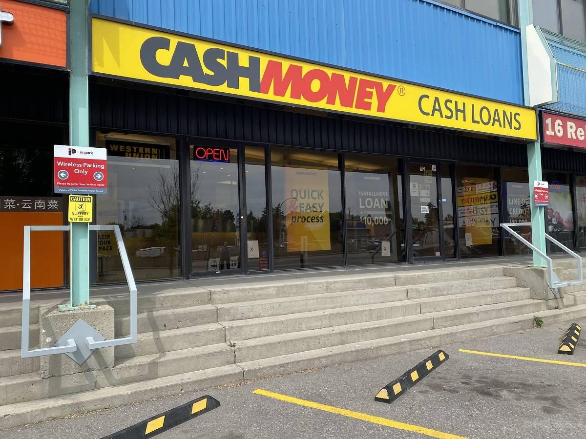 Cash Money store at 222 16th Ave NE Calgary, AB T2E 1J8