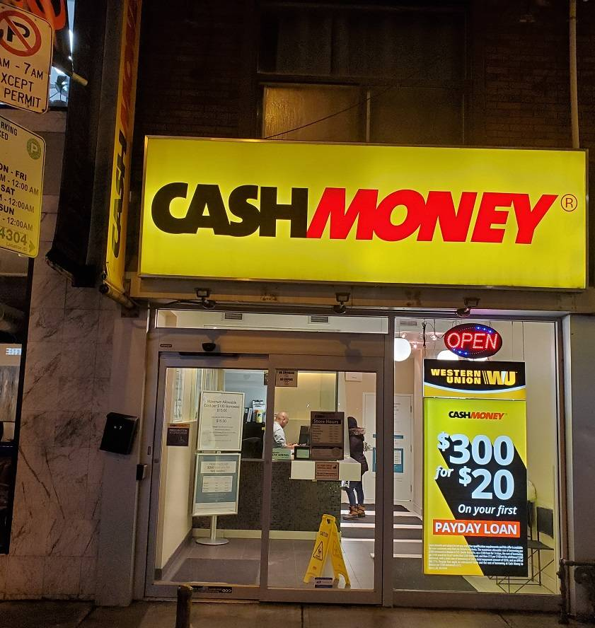 Cash Money store at 687 Queen St W