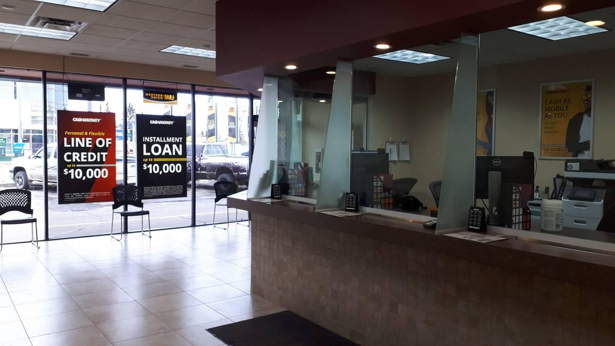 Cash Money store at 15640 Stony Plain Rd Edmonton, AB T5P 3Z4