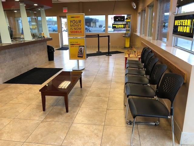 Inside Cash Money store in Regina Saskatchewan
