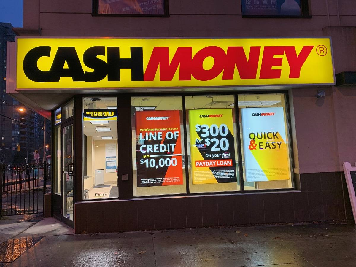 Cash Money store at 5587 Yonge St