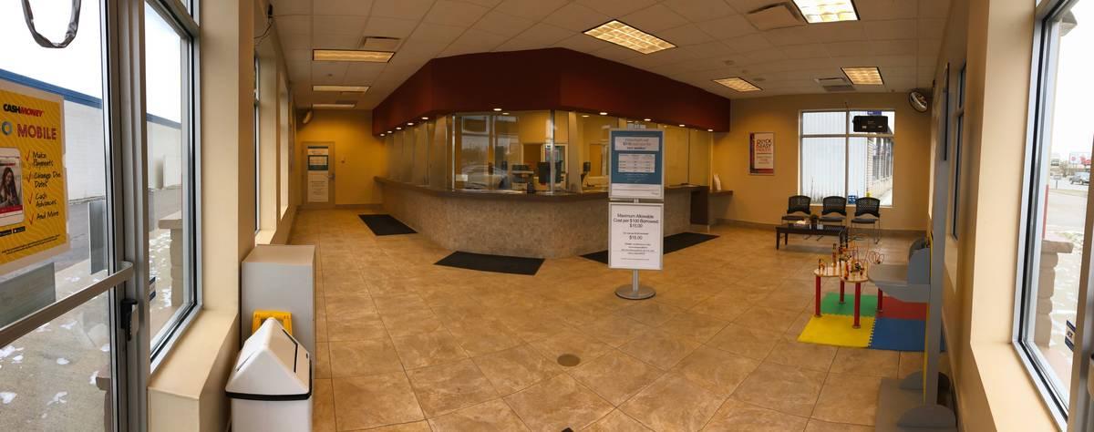 Inside Cash Money store in Thunder Bay Ontario