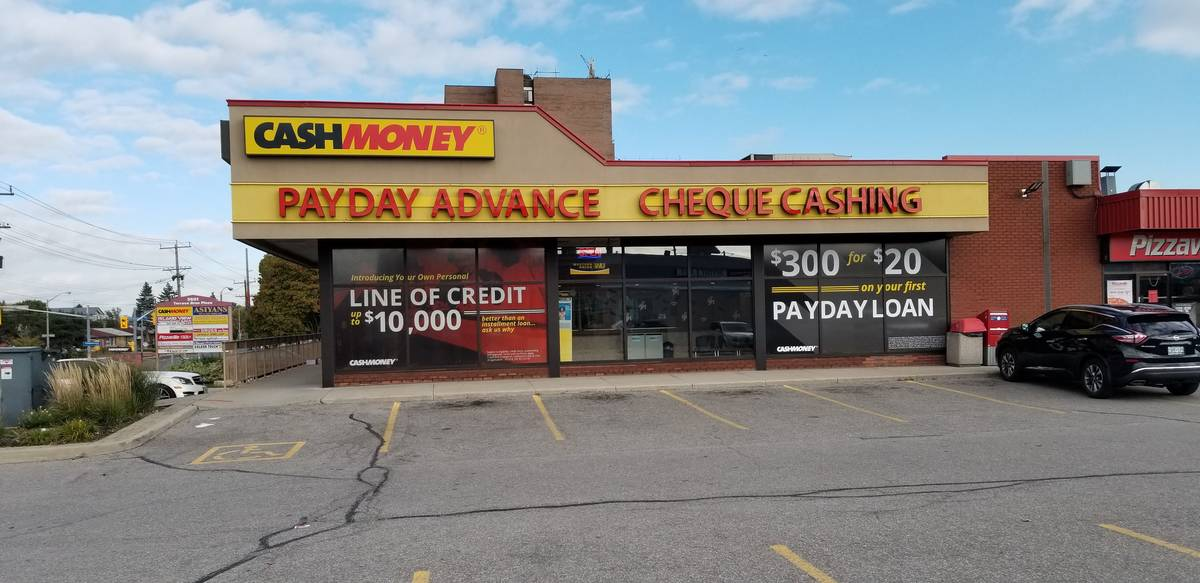 Cash Money store at 3601 Lawrence Ave E