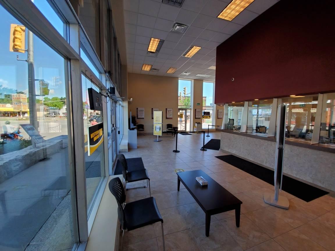 Inside Cash Money Store in Niagara Falls Ontario