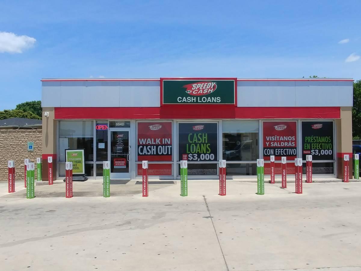San Antonio Speedy Cash store exterior view