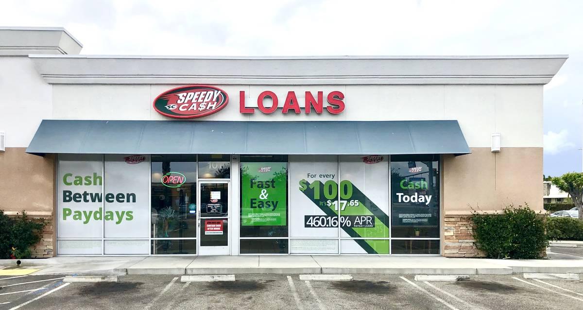 Speedy Cash storefront in Anaheim