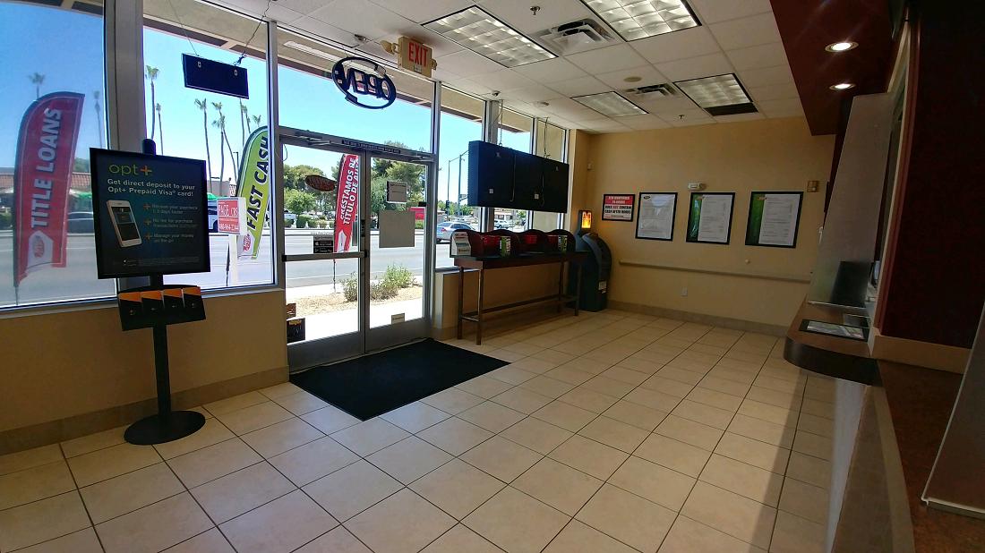 Speedy Cash lobby on Baseline in Mesa