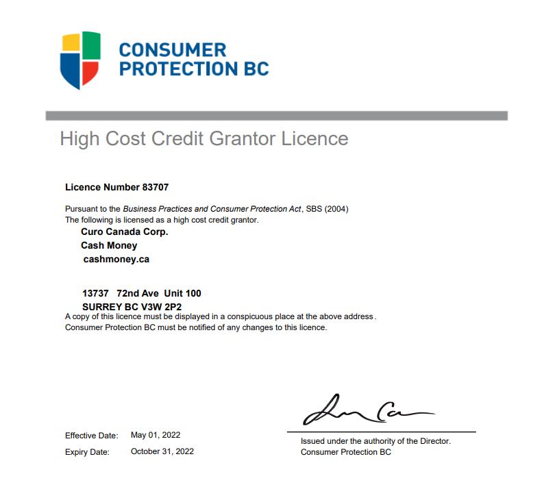 British Columbia License