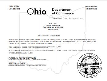 Ohio State License