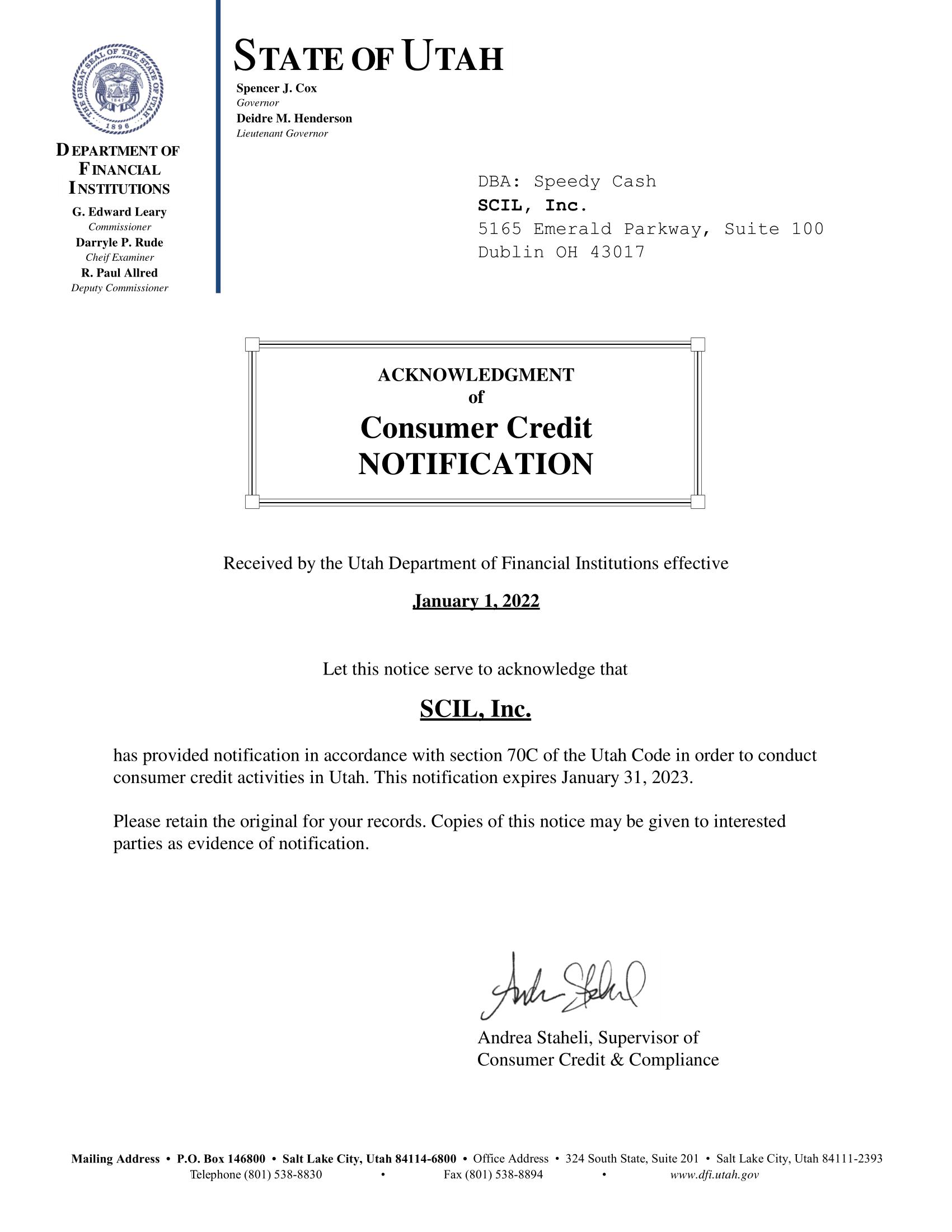 Utah State License